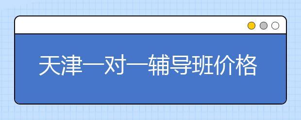 天津一对一辅导班价格表,贵不贵费用标准多少钱