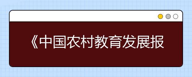 《中国农村教育发展报告2019》:我国乡村教师队伍建设成效明显