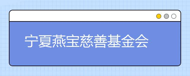 宁夏燕宝慈善基金会 8年坚持精准扶贫改变孩子未来