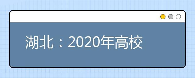 湖北:2020年高校招生录取工作咨询接待方式