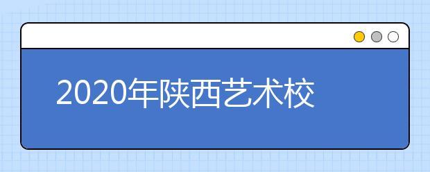 2020年陕西艺术校考政策