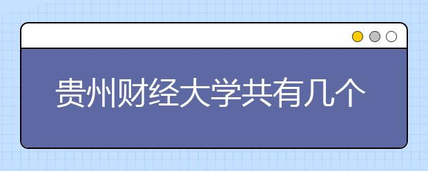 贵州财经大学共有几个校区?各个校区具的体地理位置在哪里?