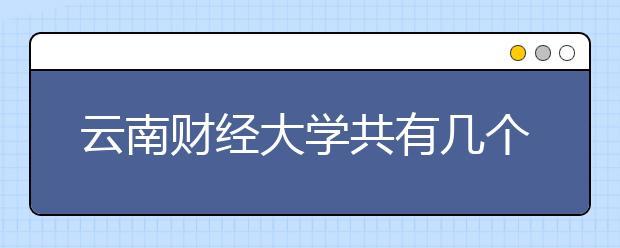 云南财经大学共有几个校区?各个校区具的体地理位置在哪里?