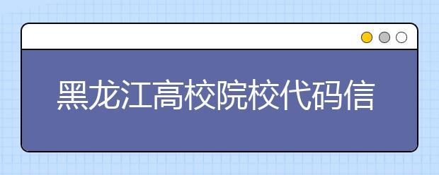 黑龙江高校院校代码信息汇总整理,为您高考志愿保驾护航