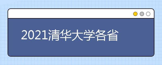 2021清华大学各省各批次录取分数线
