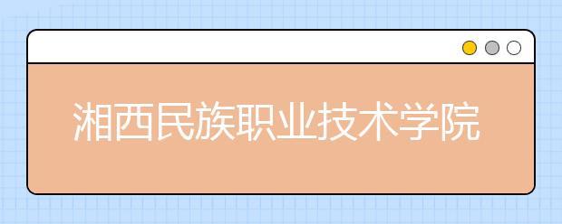湘西民族职业技术学院2021年招生计划