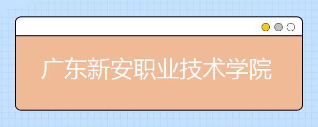 广东新安职业技术学院2021年招生计划