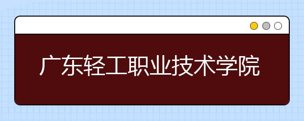 广东轻工职业技术学院2021年招生录取分数线