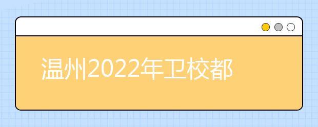 温州2022年卫校都有哪些专业