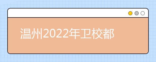 温州2022年卫校都有哪些专业好