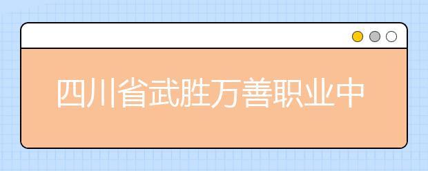 四川省武胜万善职业中学会计电算化专业就业前景如何