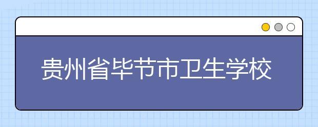 贵州省毕节市卫生学校招生计划及学费