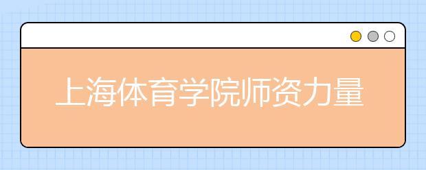 上海体育学院师资力量如何